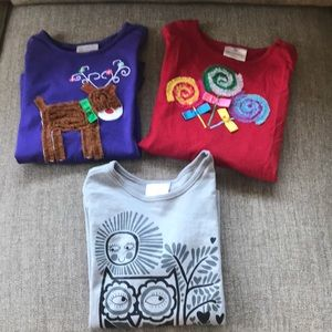 Hanna Anderson Girl's Lot Long Sleeve Tee Size 8